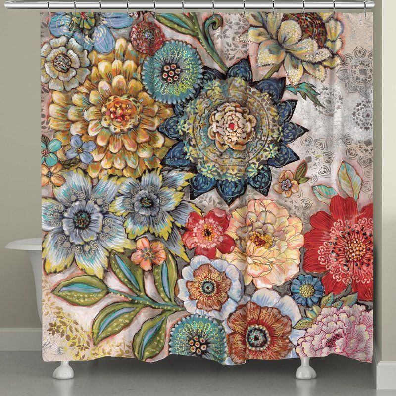 Haskell Boho Bouquet Single Shower Curtain Boho Shower Curtain