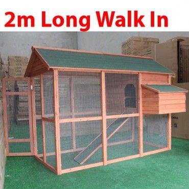 Walk-in Wood Chicken Coop Hen Hutch Cage Playhouse | GTmall Online