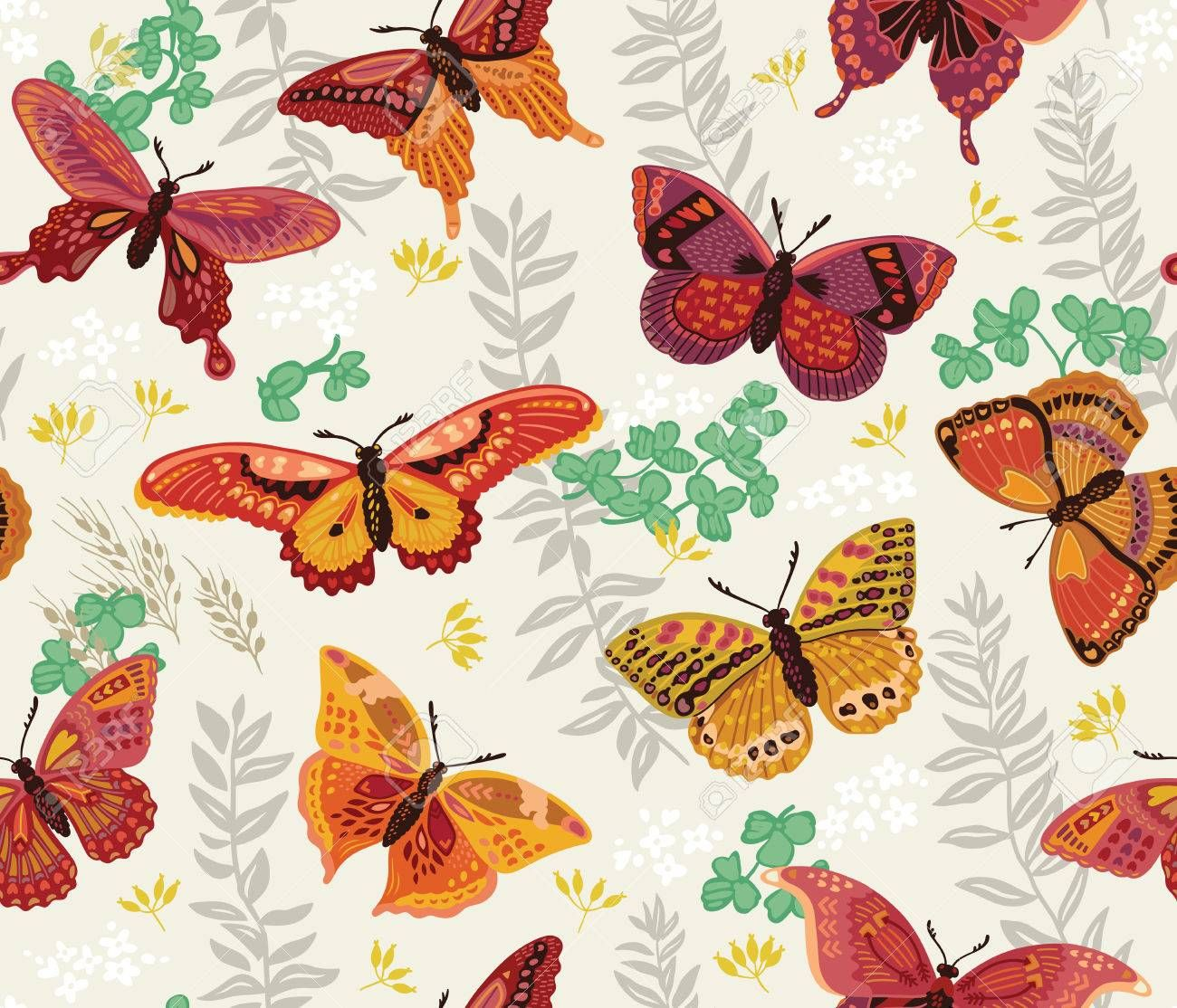 Image result for vintage butterfly wallpaper | Butterfly ...