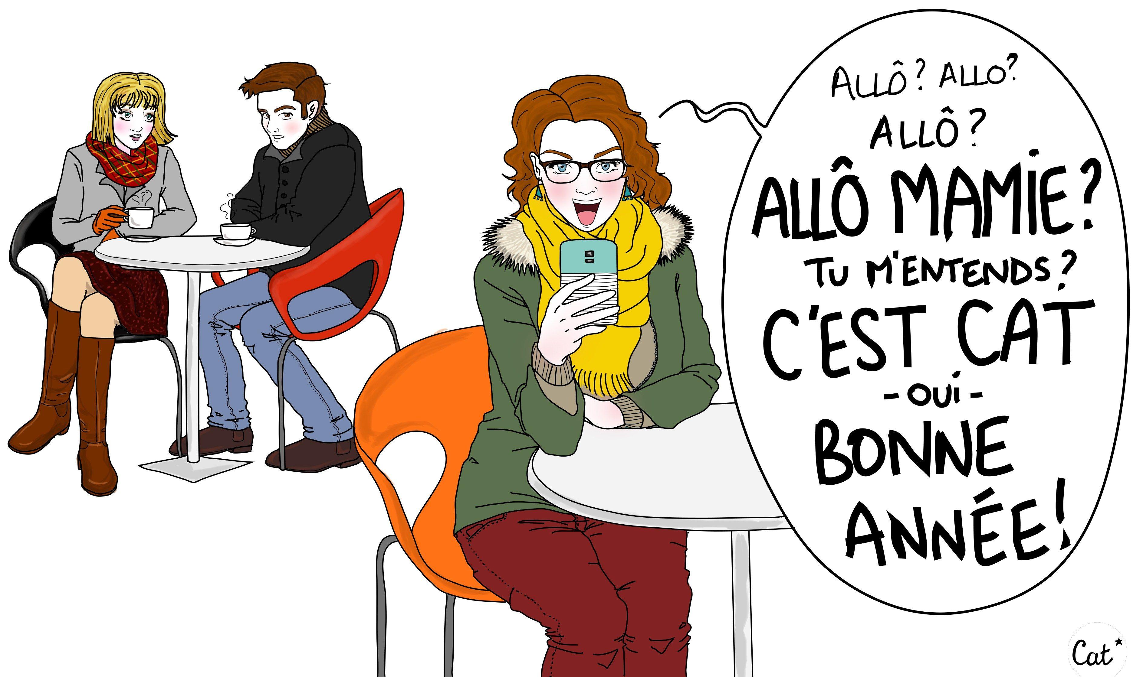 Bonne Annee Nouvel An Grand Parents Illustration Humour Dessin Telephone Smartphone Humour Citation Humour Drole