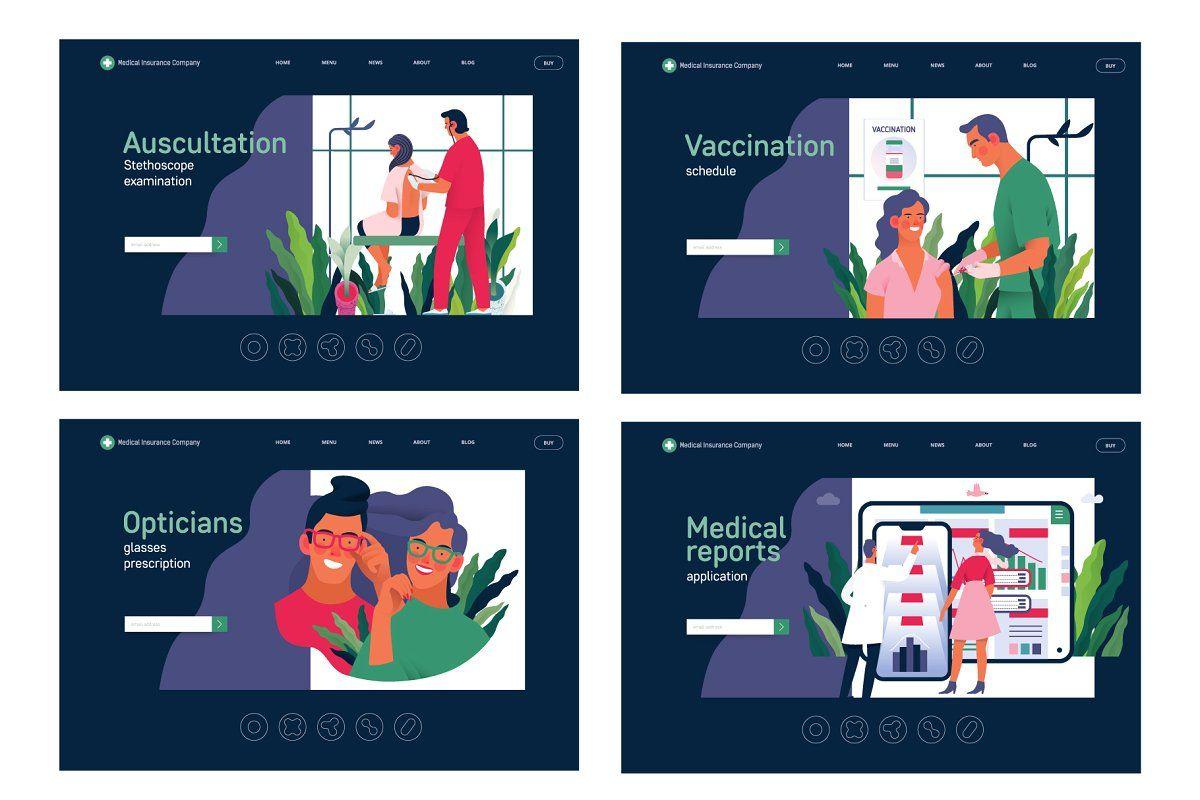 Part 2 Medical website illustrations in 2020 Website