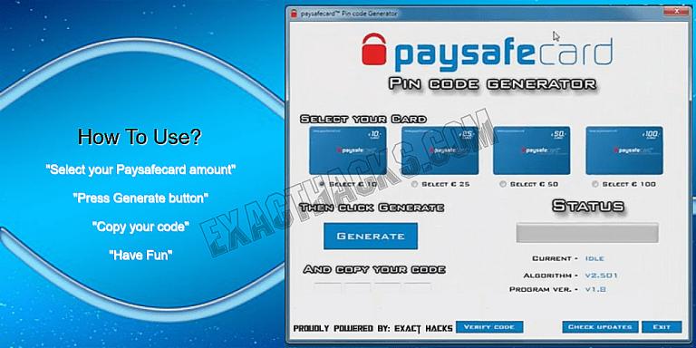 Paysafecard Pin Code Generator 2020 + Codes List Exact