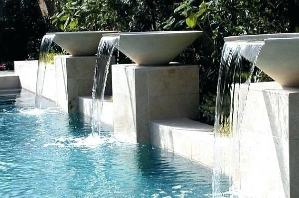 modern waterfall pool waterfalls ideas for your backyard pool remodel modern poo      A Mini Pool is quickly set up, often surprisingly cheap and the suitable, uncomplicated filter technology ensures unadulterated bathing fun. Because they take up little space for themselves, the Whirlpool or mini plunge pool even fit into small gardens, but you have to integrate them cleverly so that they fit harmoniously into the overa... #Backyard #Ideas #Modern #poo #pool #Remodel #Waterfall #Waterfalls