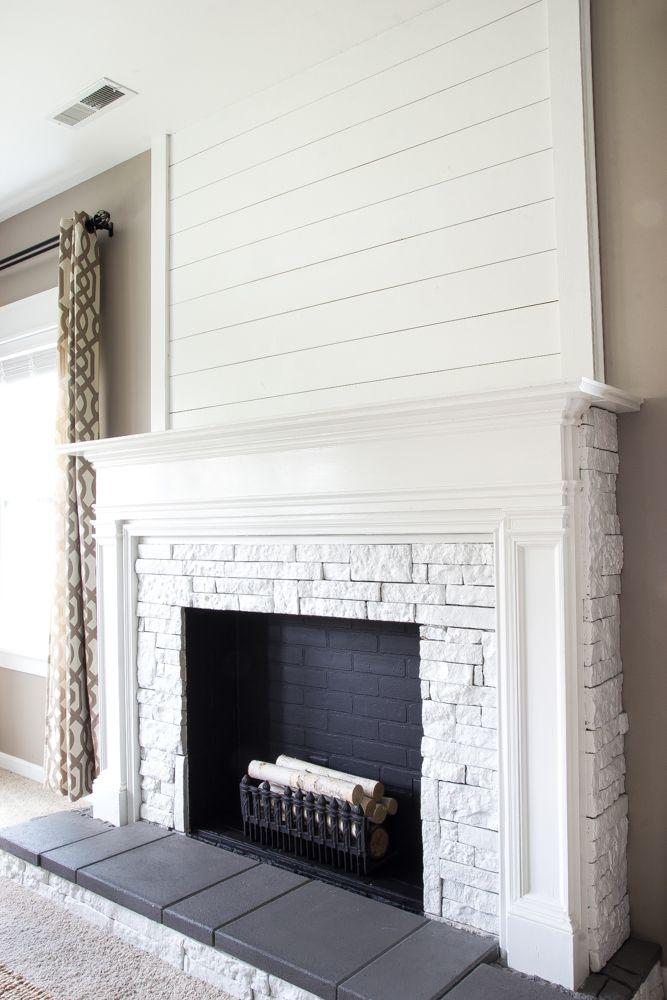 lime wash brick fireplace Bing Images decorating Pinterest