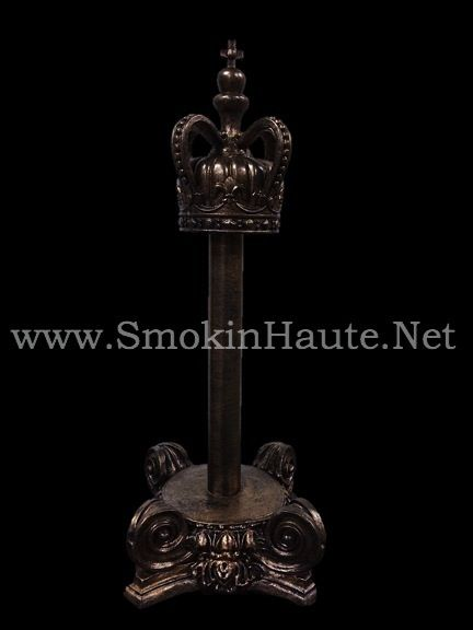 Crown Top Paper Towel Holder With Ornate Chunky Base Smokin