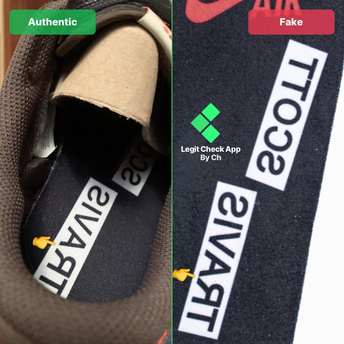 REAL VS FAKE TRAVIS SCOTT LOW TOP Travis scott, Scott