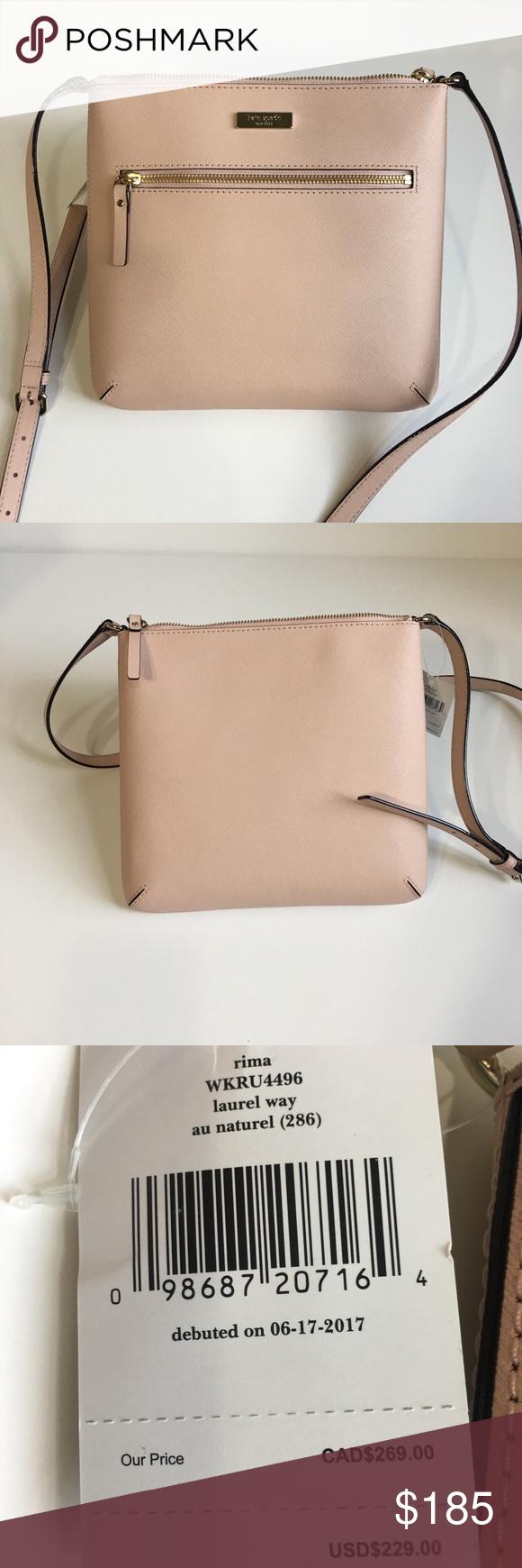 Kate Spade WKRU4496 New York Rima Laurel Way Leather Crossbody Bag
