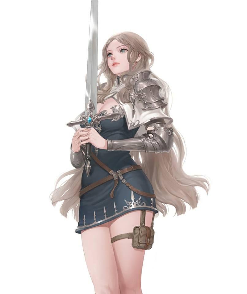 Anime girl anime fantasy character design fantasy - Anime female warrior ...