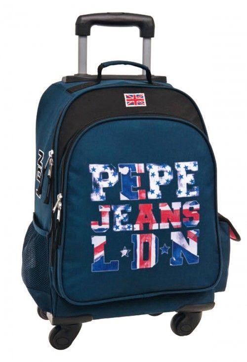 d2439be2c mochila 4 ruedas pepe jeans letters logo | Mochilas Pepe Jeans in ...