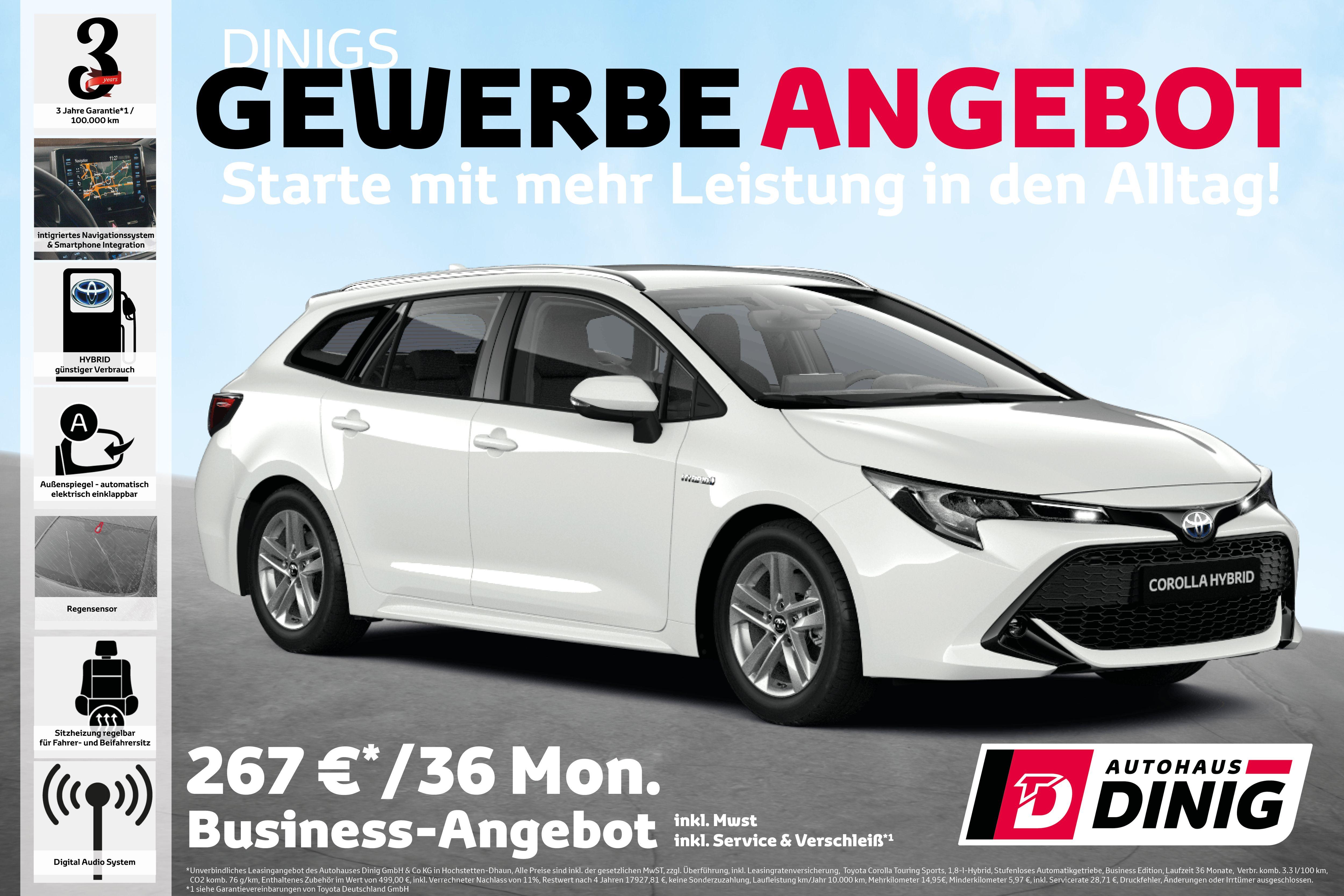 Gewerbe Angebot Toyota Corolla Business Hochstettendhaun Hunsruck In 2020 Autohaus Autos Gebrauchtwagen