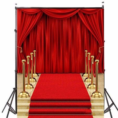 5x7ft Vinyl Fabric Photography Backdrop Wedding Background Photo Lighting Studio Props Red Carpet Curtain Party Decor Walmart Com Red Carpet Backdrop Red Carpet Background Red Curtains