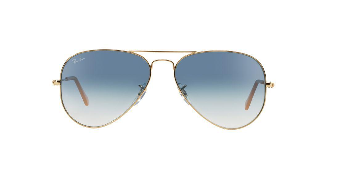 af3538285 Sunglass Hut  RAY-BAN RB3025 55 ORIGINAL AVIATOR Gold Blue UPC   805289307655 The original Ray Ban aviator in Black