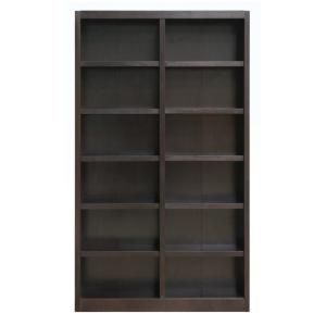 Concepts In Wood 60 In Espresso Wood 4 Shelf Standard Bookcase