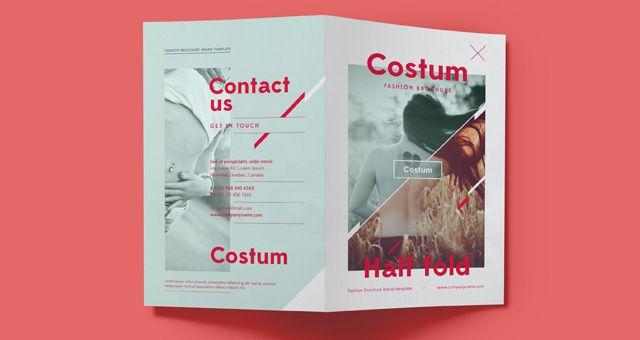 Costum Bi Fold Brochure Template LTheme Pinterest Brochure - Double fold brochure template