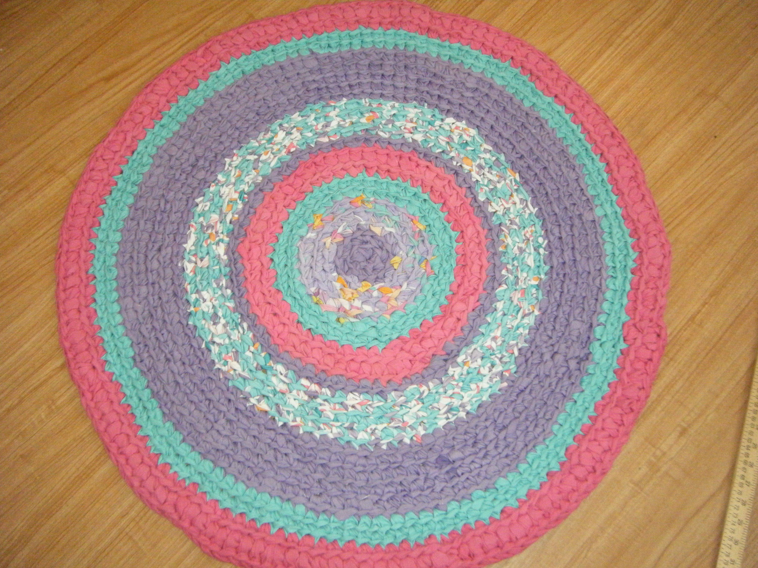Purple And Pink Rug For A Special Girl Crochet Girls Rag Rug By Gettysburgrugroom On Etsy Fabric Rug Childrens Rugs Pink Rug