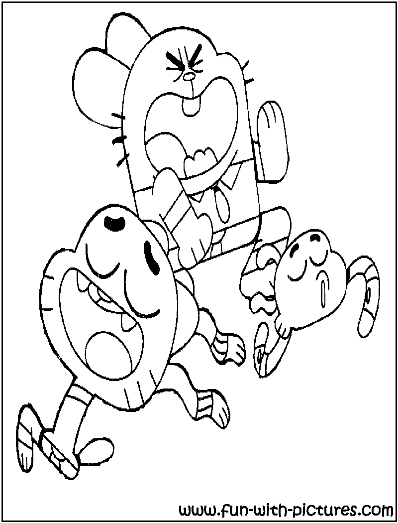 Cool The Amazing World Of Gumball Family Coloring Page Family Coloring Pages Cartoon Coloring Pages Cute Doodles Drawings