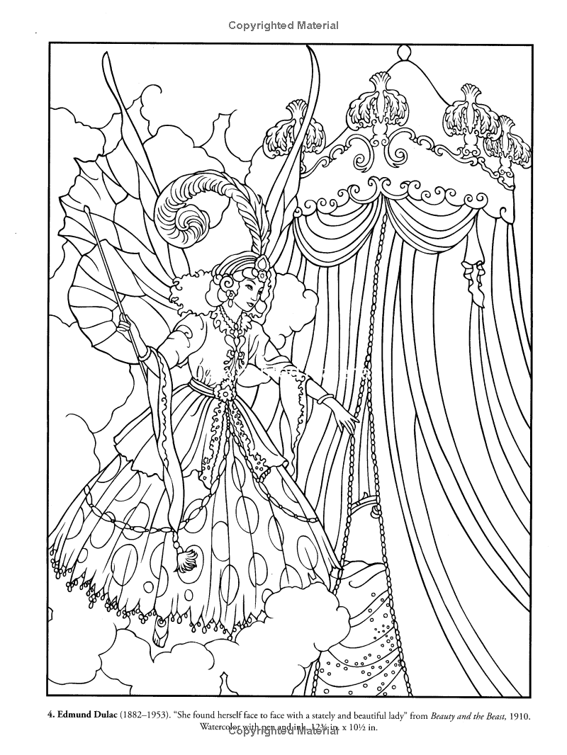 Color Your Own Victorian Fairy Paintings (Dover Art Coloring Book ...