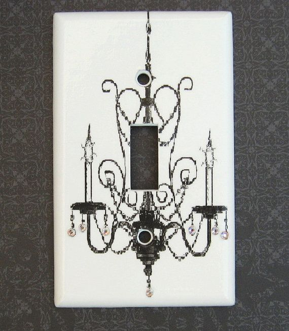 Chandelier Wall Light With Switch : Iridescent Crystal Chandelier Light Switch Cover Bling Jeweled Paris Chic Wall Decor Switch ...