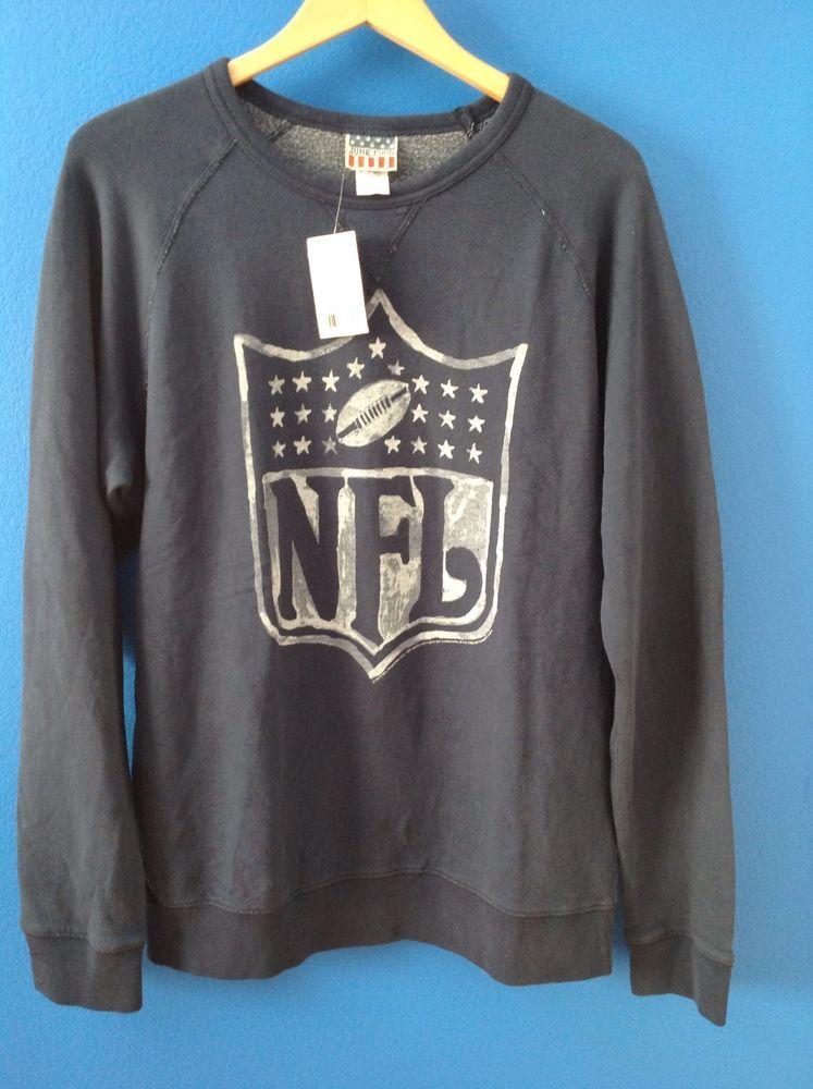 JUNK FOOD Men's Blue NFL Logo Sweatshirt Size L NWT NEW #JunkFood