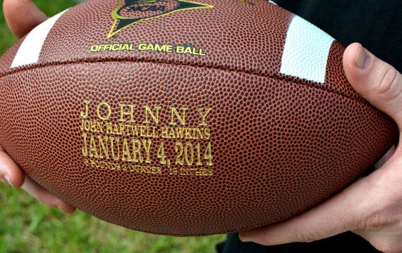 Personalized Football Ring Bearer Gift Groomsmen And