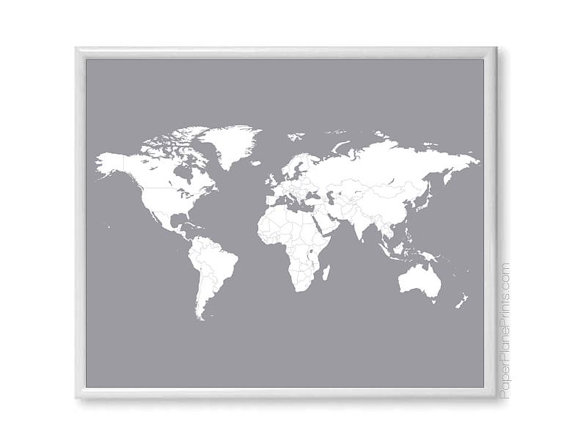 World travel map diy kit includes red heart stickers traveler world travel map diy kit includes red heart stickers traveler gift wall map poster grey 11x14 print blank world map with countries gumiabroncs Gallery