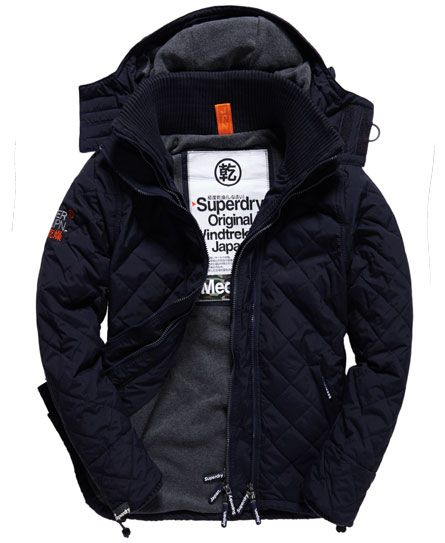Superdry Quilted Windcheater French Navy Moda Masculina