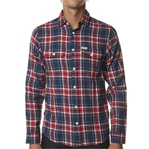Fashion Factory Australia have the Academy Brand Nelson Flannel Ls Shirt on sale AU$69.95. from Academy Brand Mens > Shirts + Polos > Mens Long Sleeve Shirts in the popular online store SurfStitch (AU). Features: Mens Long Sleeve Shirts Colour: Red Navy Button up front Button closure chest pockets Brand label on left chest pocket Curved hemline Collared Stylish long sleeve flannel shirt Size Guide: Mens Long Sleeve Shirts Model's height measures: 185cm YES WE OFFER INTERNATIONAL SHIPPING…