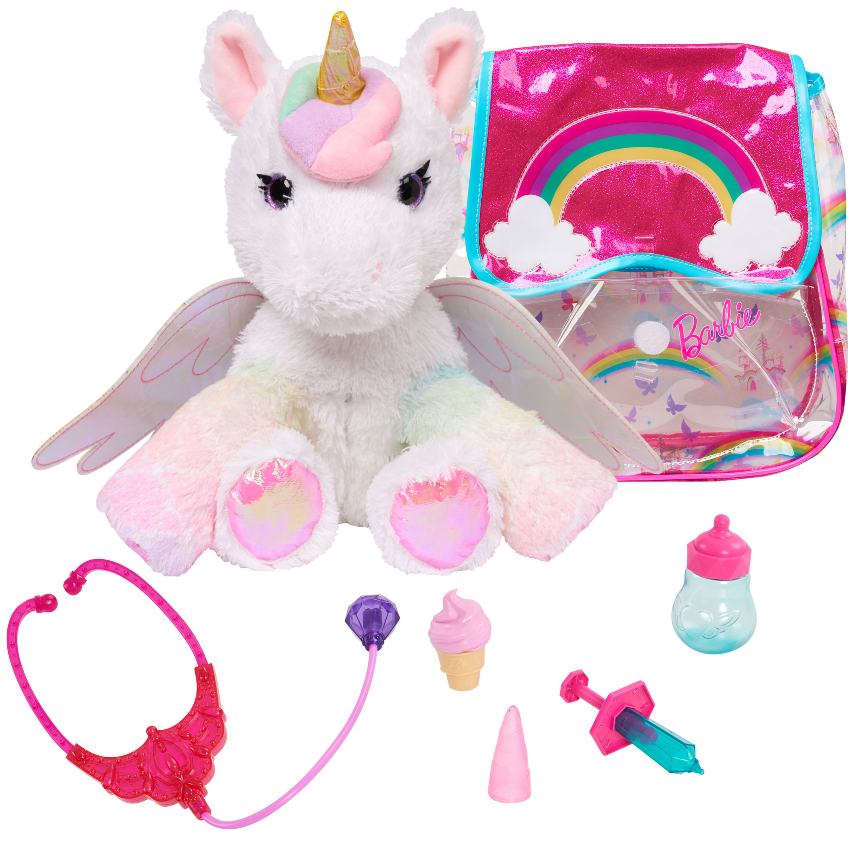 Barbie Dreamtopia Unicorn Pet Doctor In 2020 Unicorn Stuffed Animal Unicorn Barbie Animal Doctor