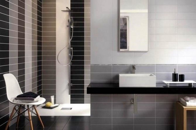 Piastrelle bagno moderno grigio cerca con google casa bagno bathroom bath home - Piastrelle bagno grigie ...