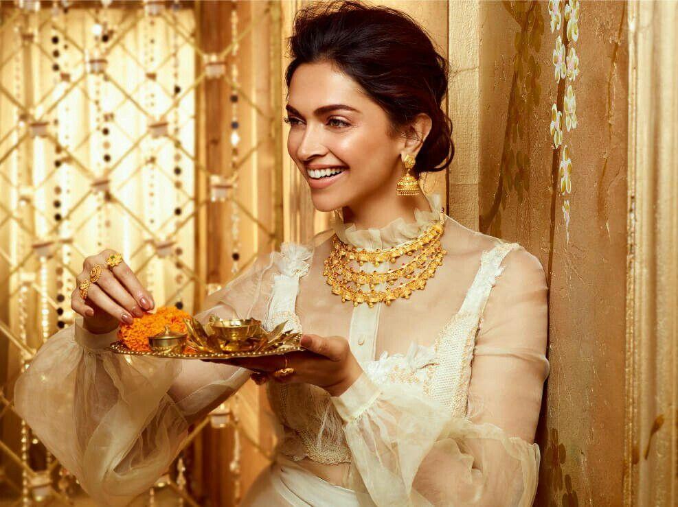 Deepika Padukone For Tanishq Utsava Deepika Padukone Tanishq Jewellery Gold Jewelry