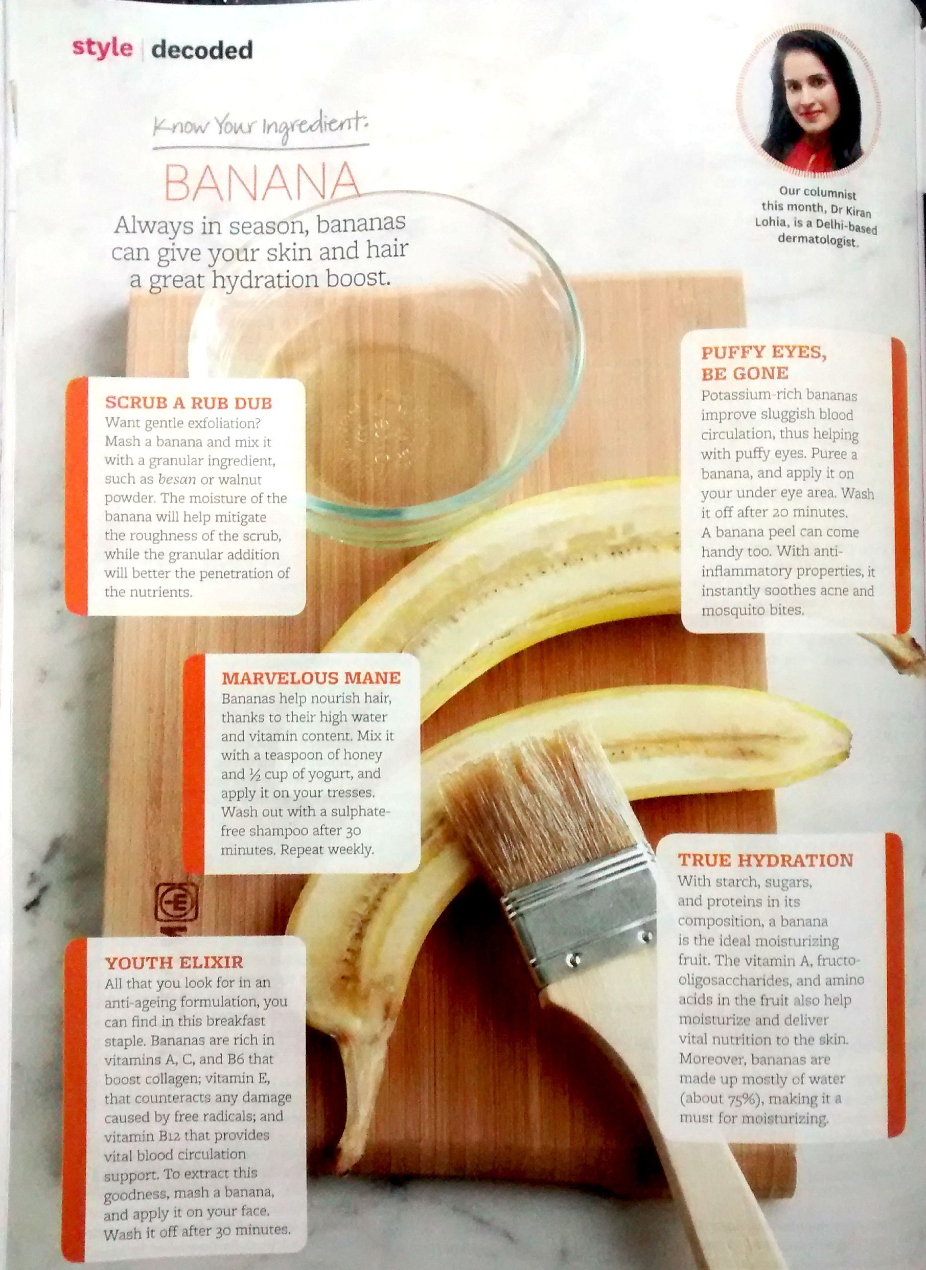 Beauty Food Revealed!!! Banana can give your Skin and Hair a
