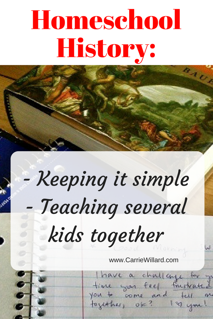 I love doing history with my homeschooled kids. Here's how we teach multiple kids history at once and keep it simple with stories.