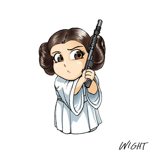 chibi star wars | Star Wars Princess Leia Cartoon | chibi art ...