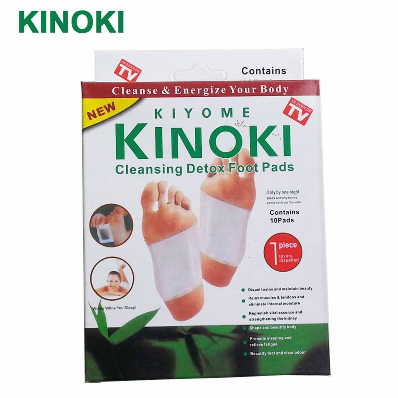 1 상자 Kinoki 해독 발 패드 패치 소매 상자 접착제/클렌징 해독 발 패드 (10 개 패드 + 10 개 접착) C059