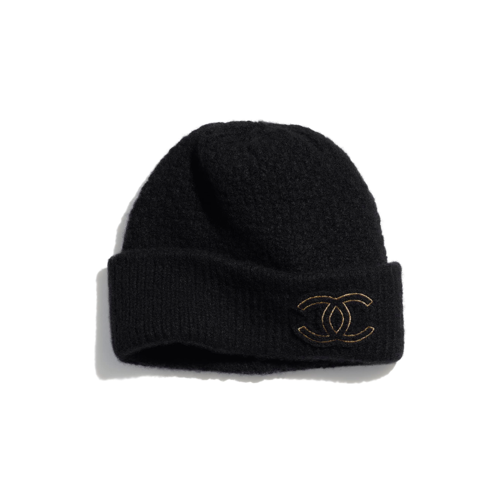 Cashmere Silk Black Beanie Chanel Black Beanie Stylist Outfit Clothes Gift