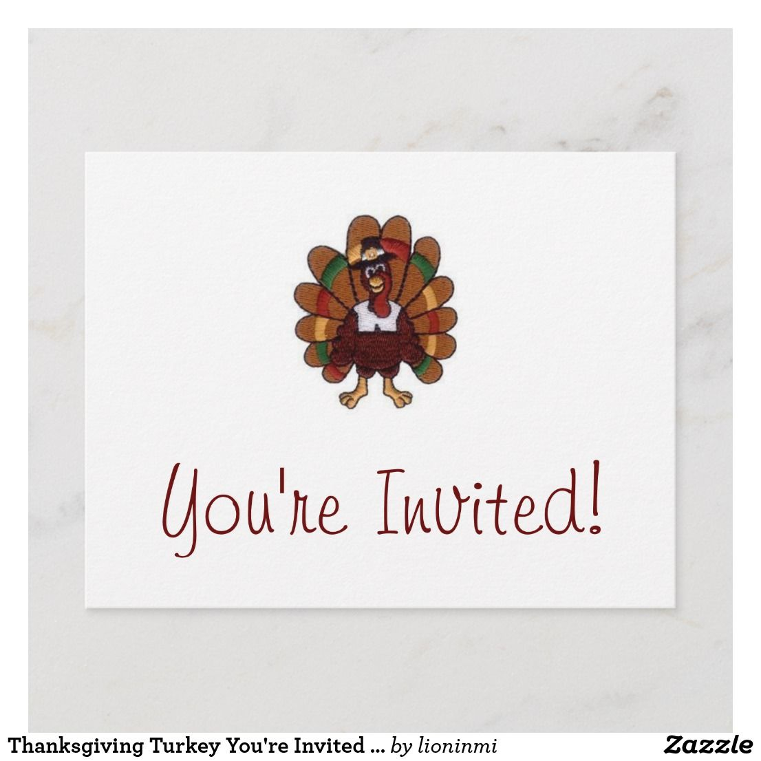 Thanksgiving Turkey You Re Invited Postcard