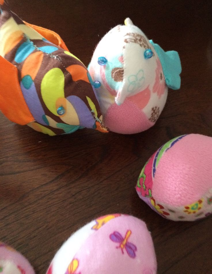 Easter birds and eggs. My first Easter project. These are a great way to use scraps and good for younger baby/toddlers to play with.