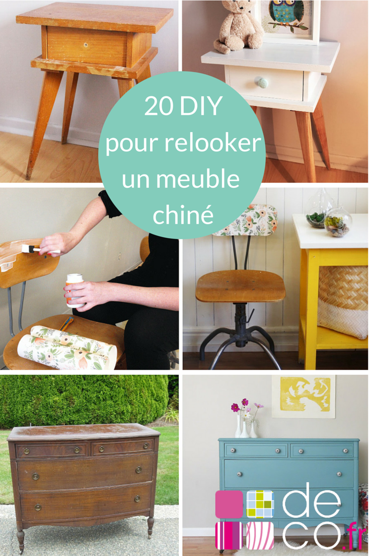 20 id es diy pour relooker un meuble chin bricolage. Black Bedroom Furniture Sets. Home Design Ideas