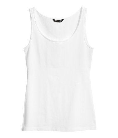 H&M valkoinen perustoppi, XS, 4,95€
