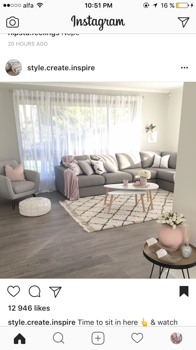 Neutral Grey And Blush Pink Lounge Decor Modern Apartment Decor Apartment Living Room Design Farm House Living Room