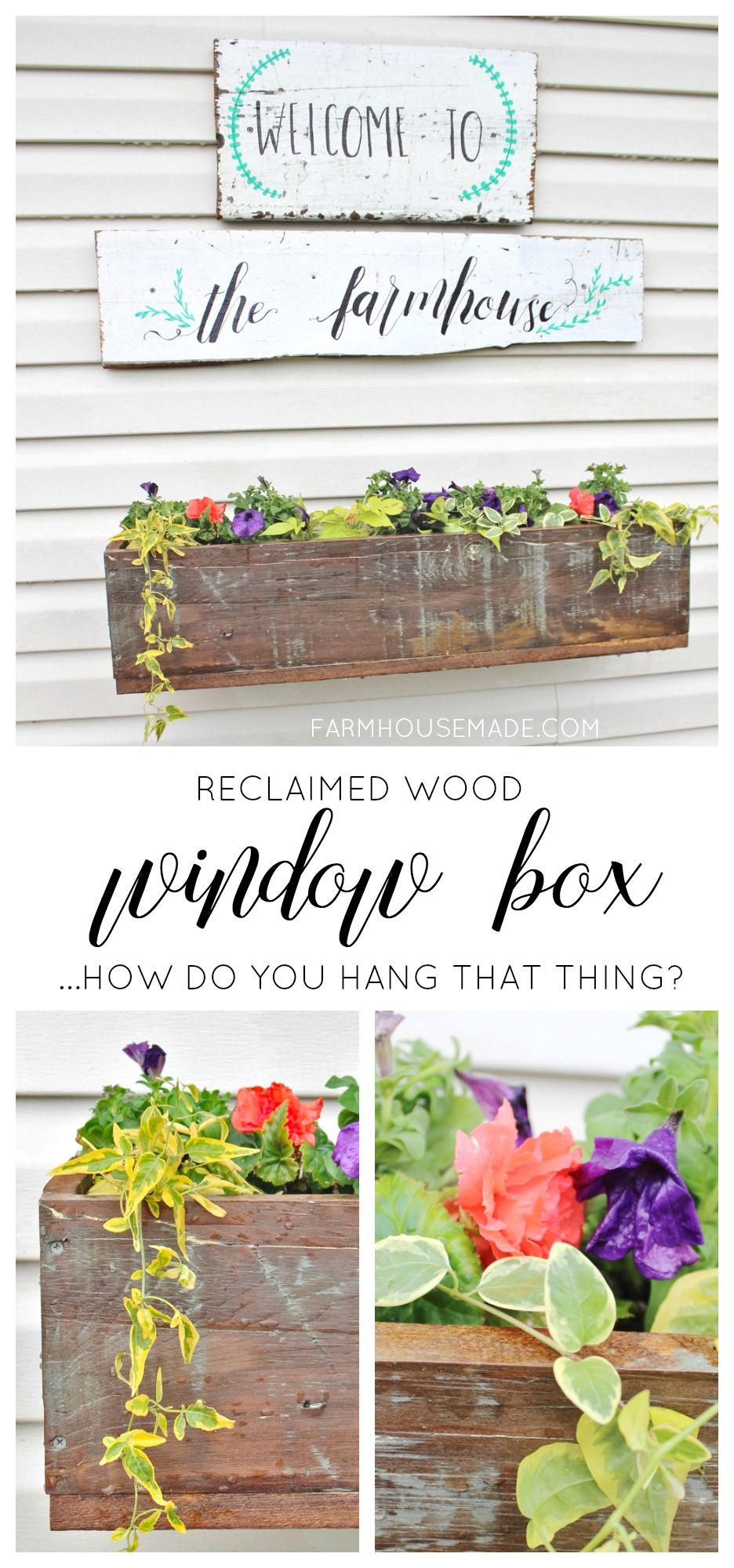 How To Make And Hang A Window Box On Vinyl Siding For
