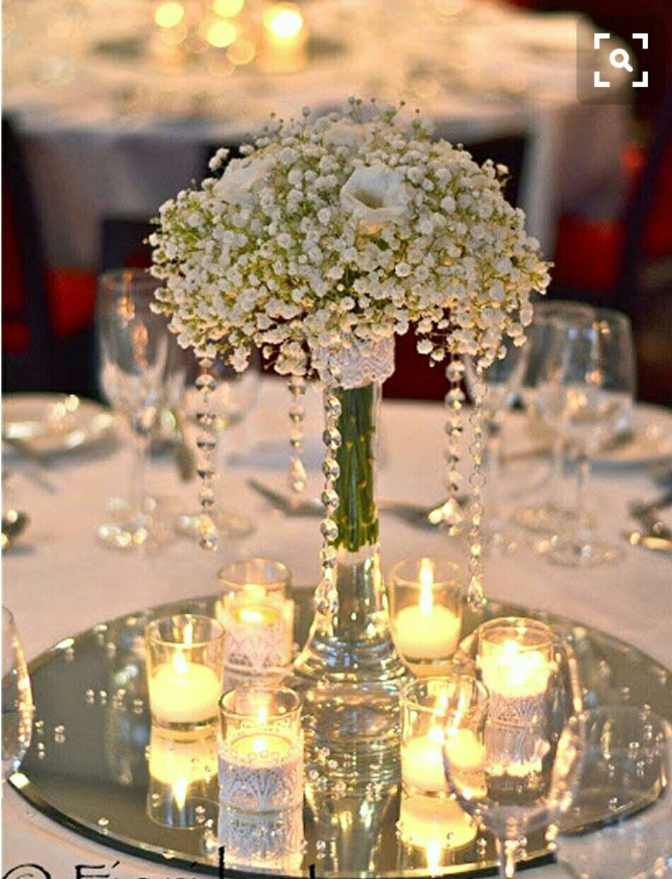 But Without The Mirror Used Wedding Decor Wedding Centerpieces Wedding Table