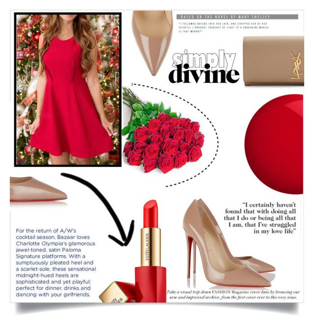 """""""Simply divine"""" by andreastoessel ❤ liked on Polyvore featuring Christian Louboutin, Estée Lauder, Yves Saint Laurent, Philippa Craddock and Essie"""