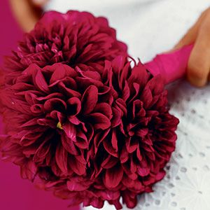 burgandy dahlia bouquet