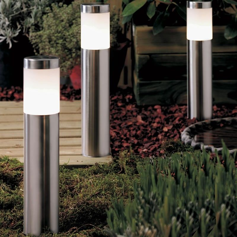 Ixia 10w Halogen Stainless Steel Post Light Led Outdoor Lighting Garden Post Lights Post Lights