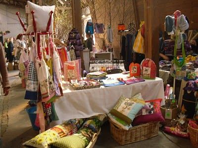 Well decorated craft fair stall