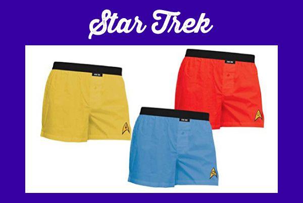 STAR TREK Adult Uniform Boxer Briefs 3-Pack