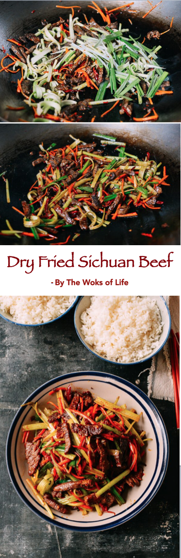Dry Fried Sichuan Beef | Recipe | Food | Beef Recipes ...