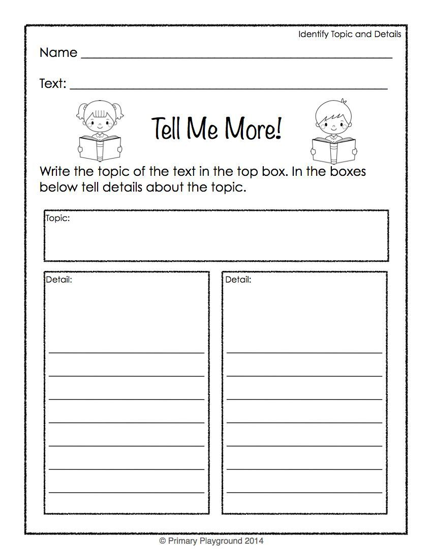 Reading Graphic Organizers For Non Fiction Topic Details Main Idea Reading Graphic Organizers Graphic Organizers First Grade Reading [ 1100 x 850 Pixel ]