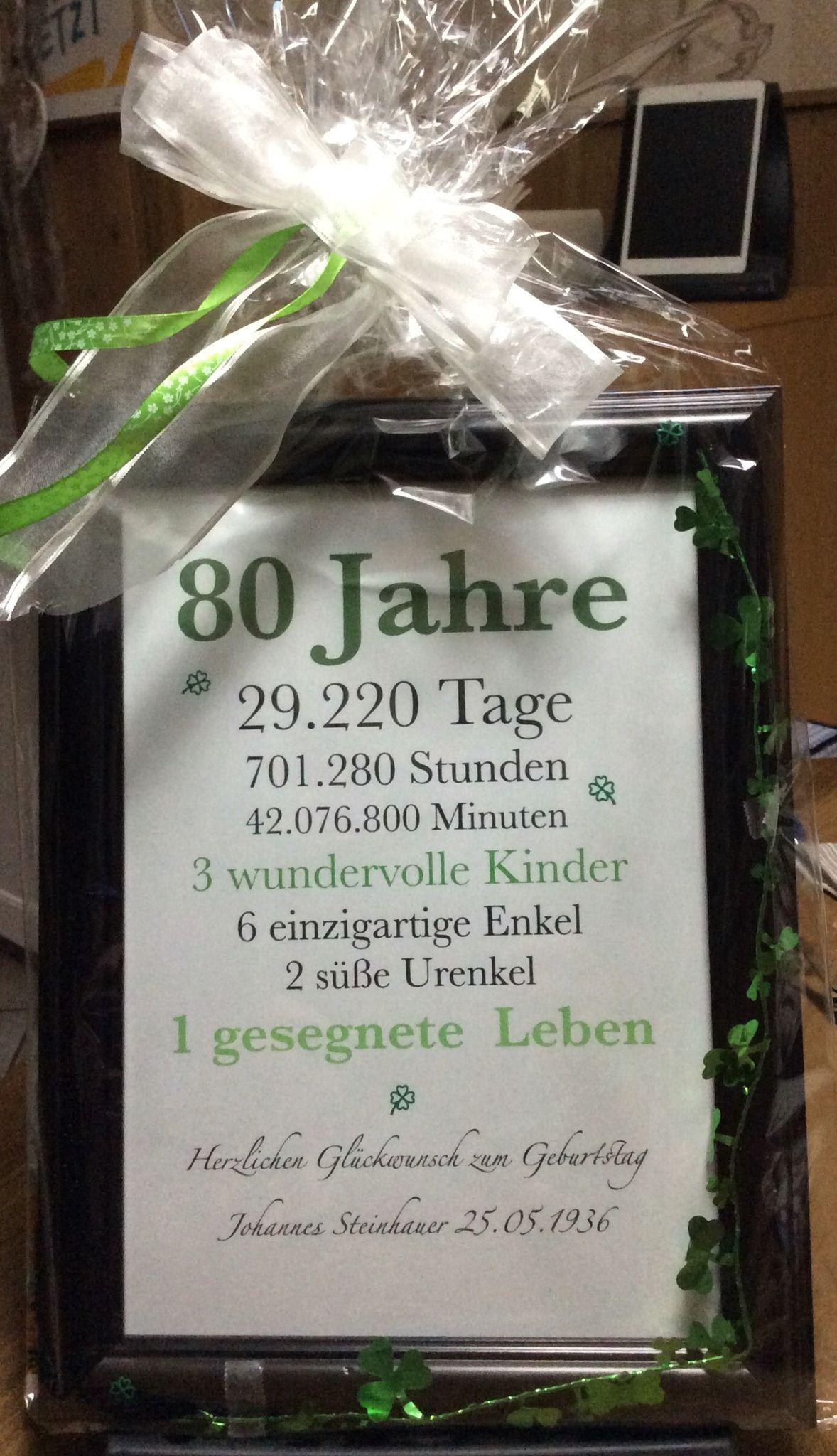 Geschenk Zum Einjährigen Inspirational Geschenk Zum 80 Geburtstag 80 Birthday